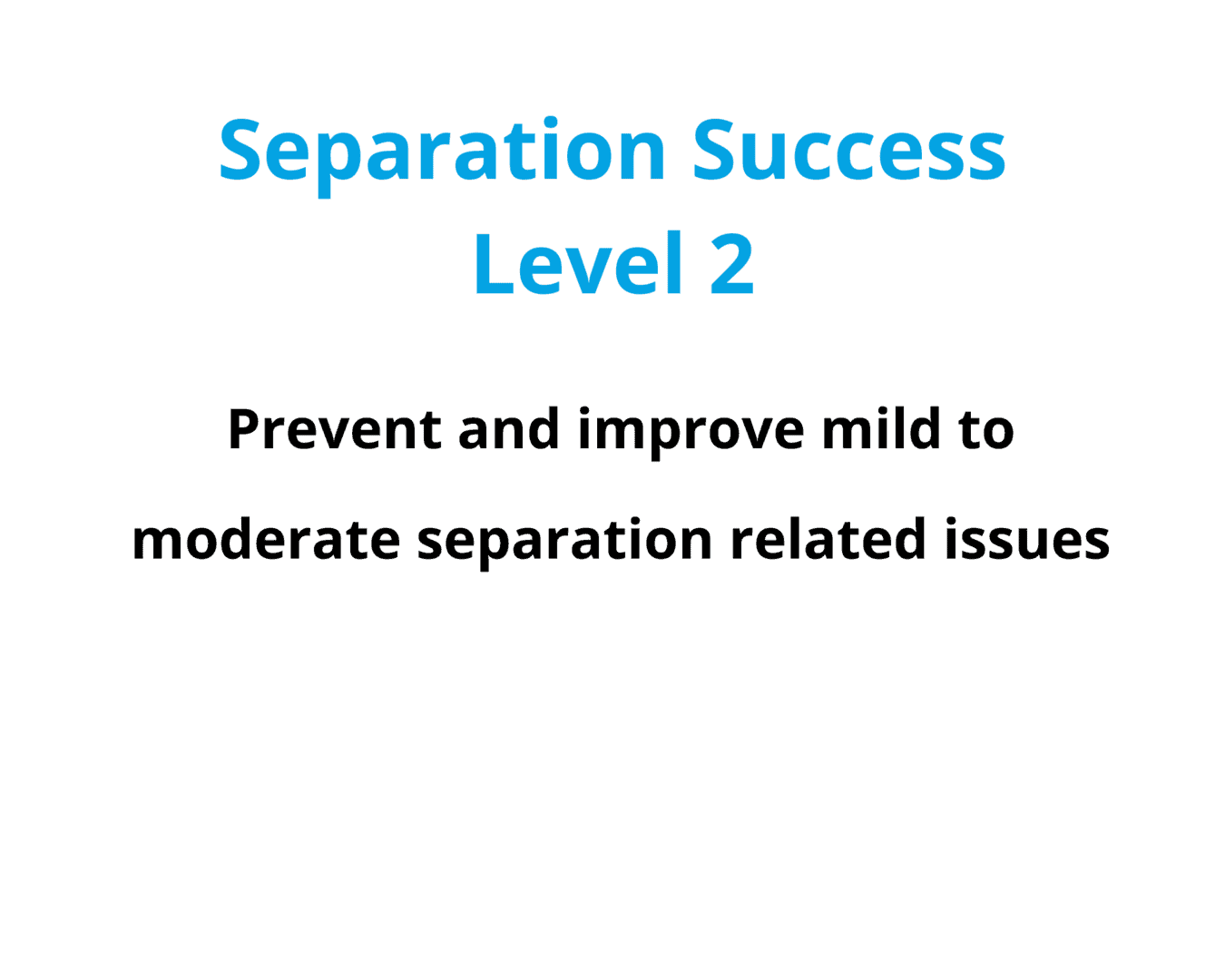 Online Course Separation Success in Dogs Level 2